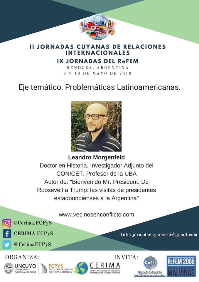 Invitado a Jornadas Cuyanas RRII 2019