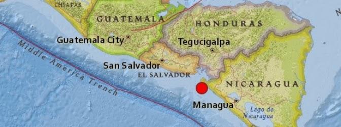 TERREMOTO 6,4 GRADOS SACUDE COSTA DEL PACIFICO DE NICARAGUA 02 de Marzo 2014