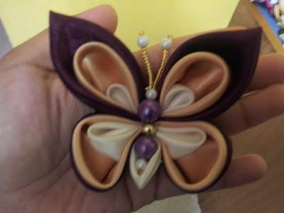 butterfly, tsumami kanzashi, hairclip, hairband, rama-rama
