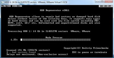 HDD Regenerator 1.71 Screenshot