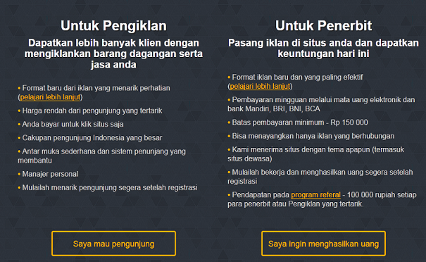 KlikUntung.com Iklan PPC Blog Indonesia Alternatif Google Adsense