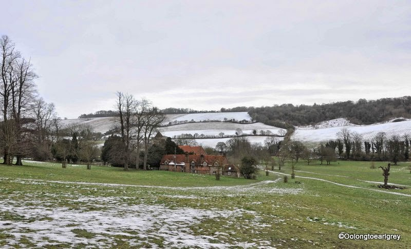 Snowy field, Hughendon Manor, High Wycombe