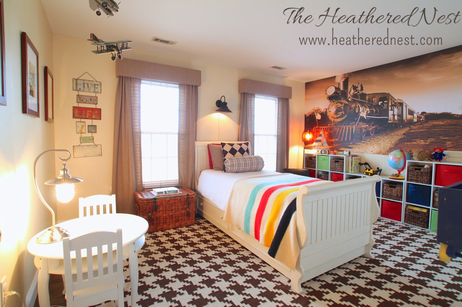 On Designing A Boy 39 S Room Our Train Of Thought The Heathered Nest