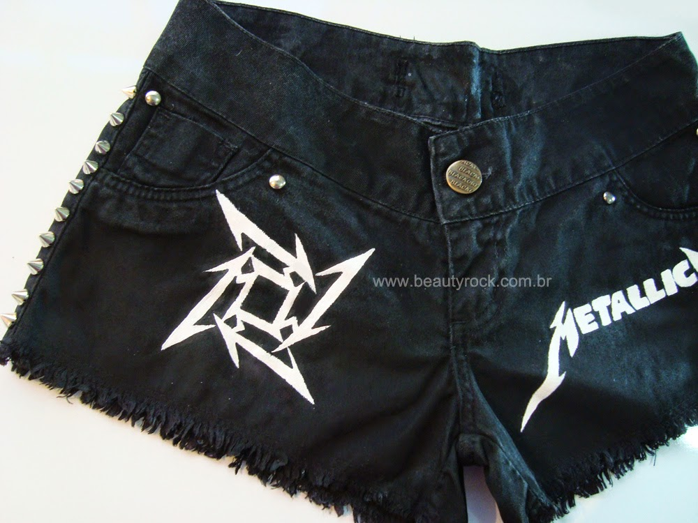 DIY: Short Customizado - Metallica