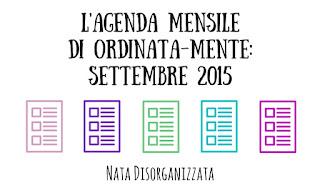 agenda mensile lavori domestici