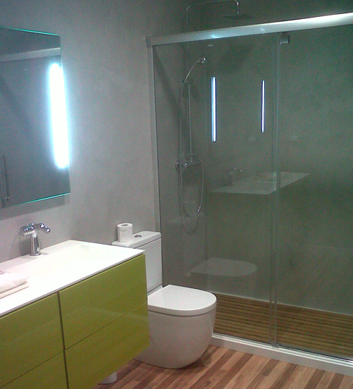 Baños Con Microcemento Fotos:Baño con Ducha: Microcemento: otra opción para la reforma de tu