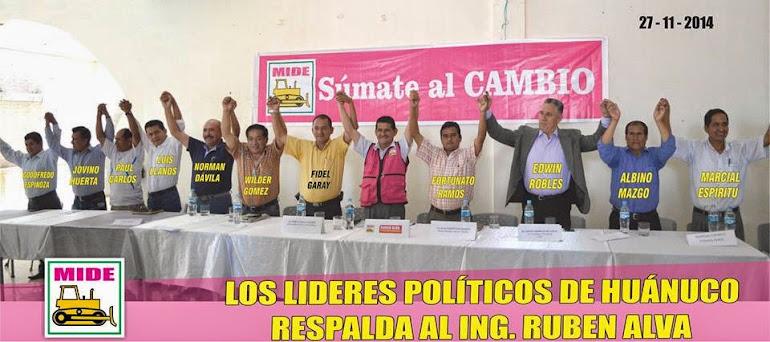 RESPALDO POLITICO AL ING. RUBEN ALVA