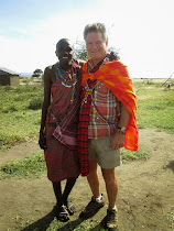 FWT with Tabula, Masai Warrior from Ewangan Masai Cultural Village, Kenya