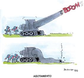 Otto el cañon de Blanco edita Amaníaco comic TBO humor antibelicista