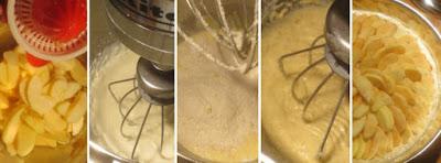 Zubereitung Sahnerührteig für Apfelkuchen mit Mandelguss