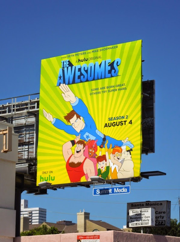 The Awesomes season 2 Hulu billboard