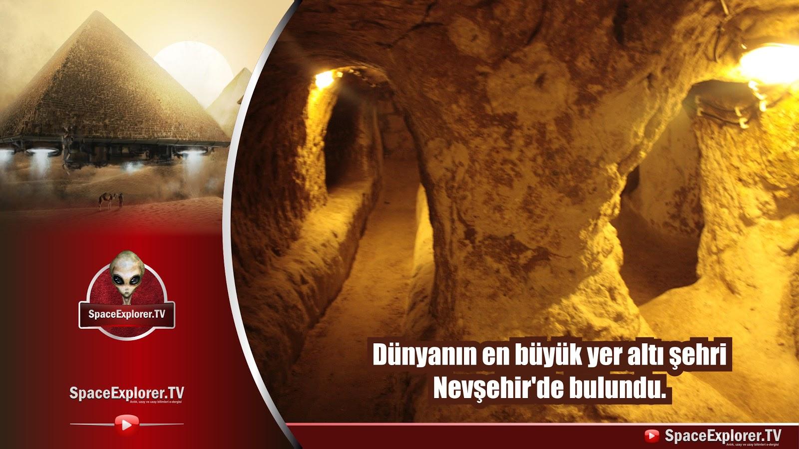 Dünyanın en büyük yer altı şehri Nevşehir'de bulundu.