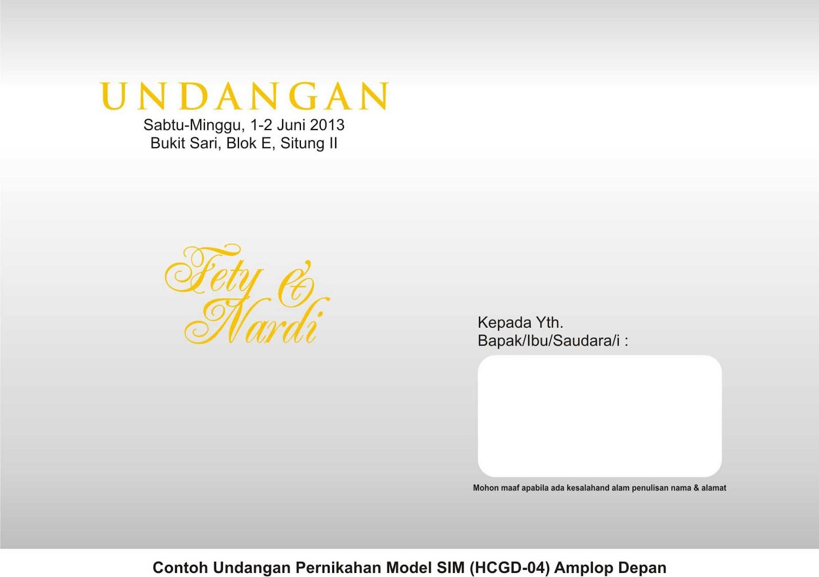 contoh undangan pernikahan | undangan murah | desain