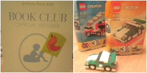 pottery barn book club and legos