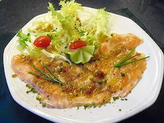 Saumon frais en marinade