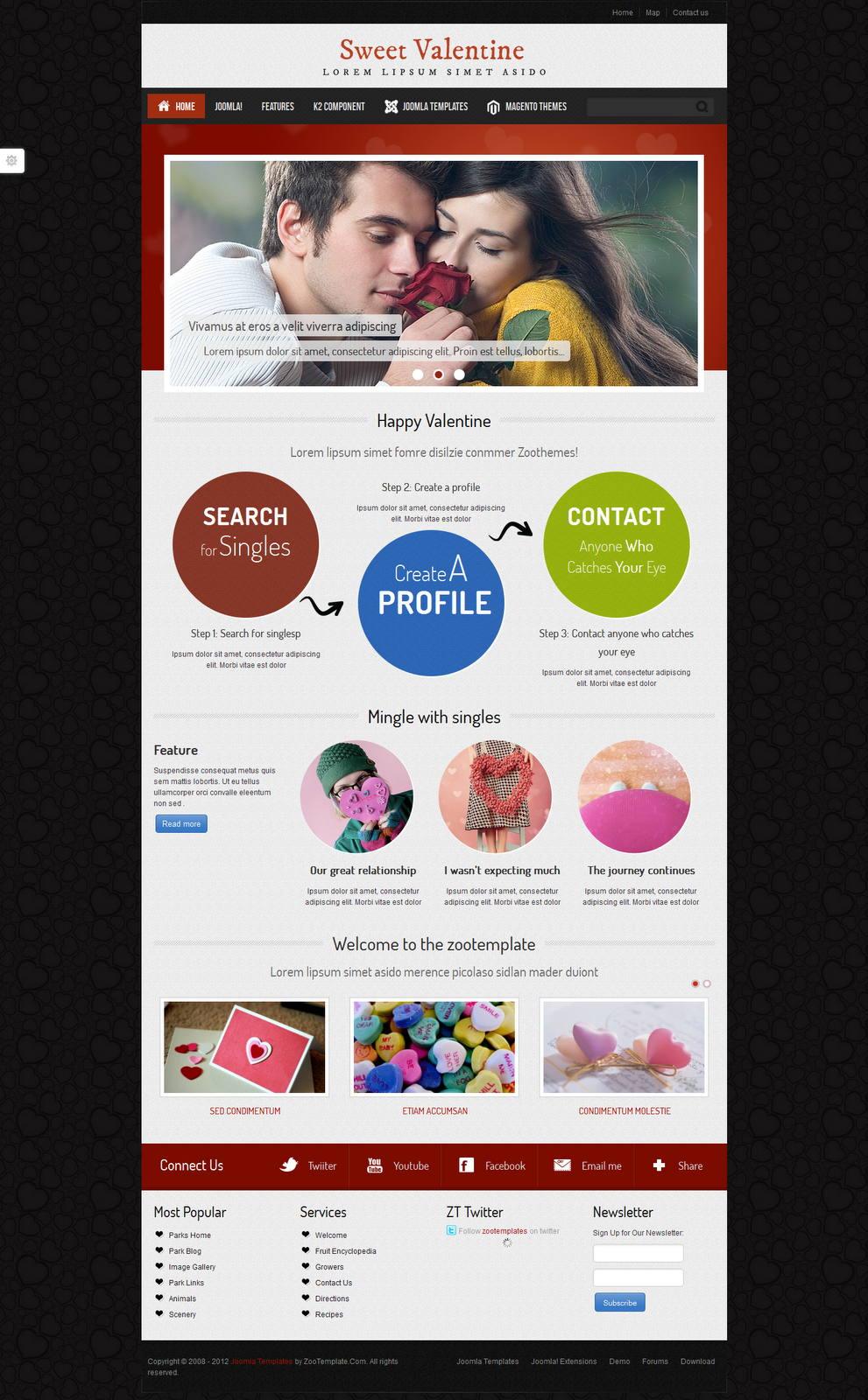 Valentine-Joomla-2.5-Dating-Template