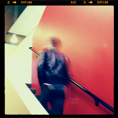 GotPrint employee walking up the stairs