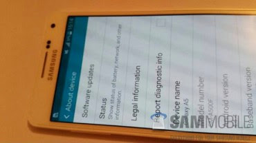 Samsung Leaked Galaxy A5 SM-A500 Smartphone