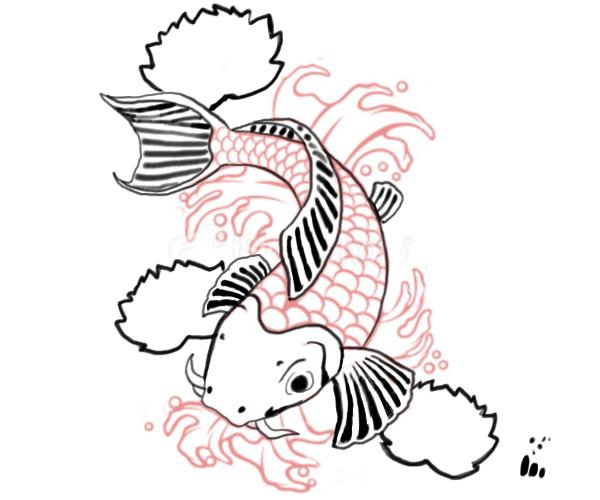 Piercedfish blog koi fish for Drawings of fish