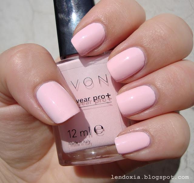 avon nailwear pro+ pastel pink