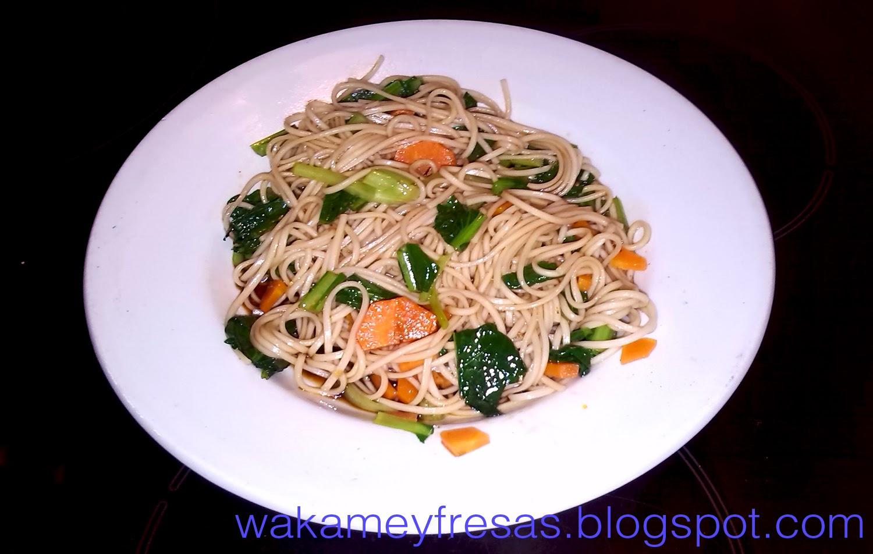 presentación de los tatsoi noodles