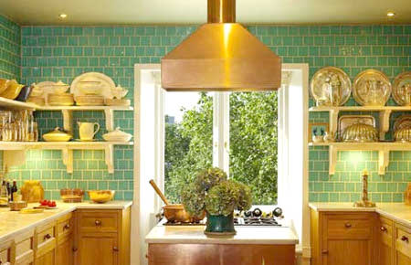 Decoración de interiores: Diseño de cocinas en color verde