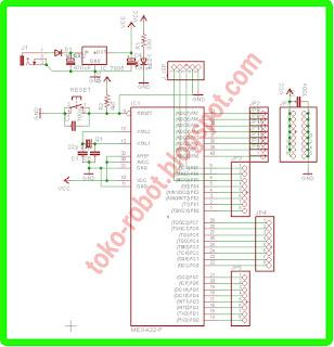 Minimum System Atmega16 Atmega32 dan Atmega8535, Line Tracer Mikro, Mikrokontroler, http://toko-robo.blogspot.com