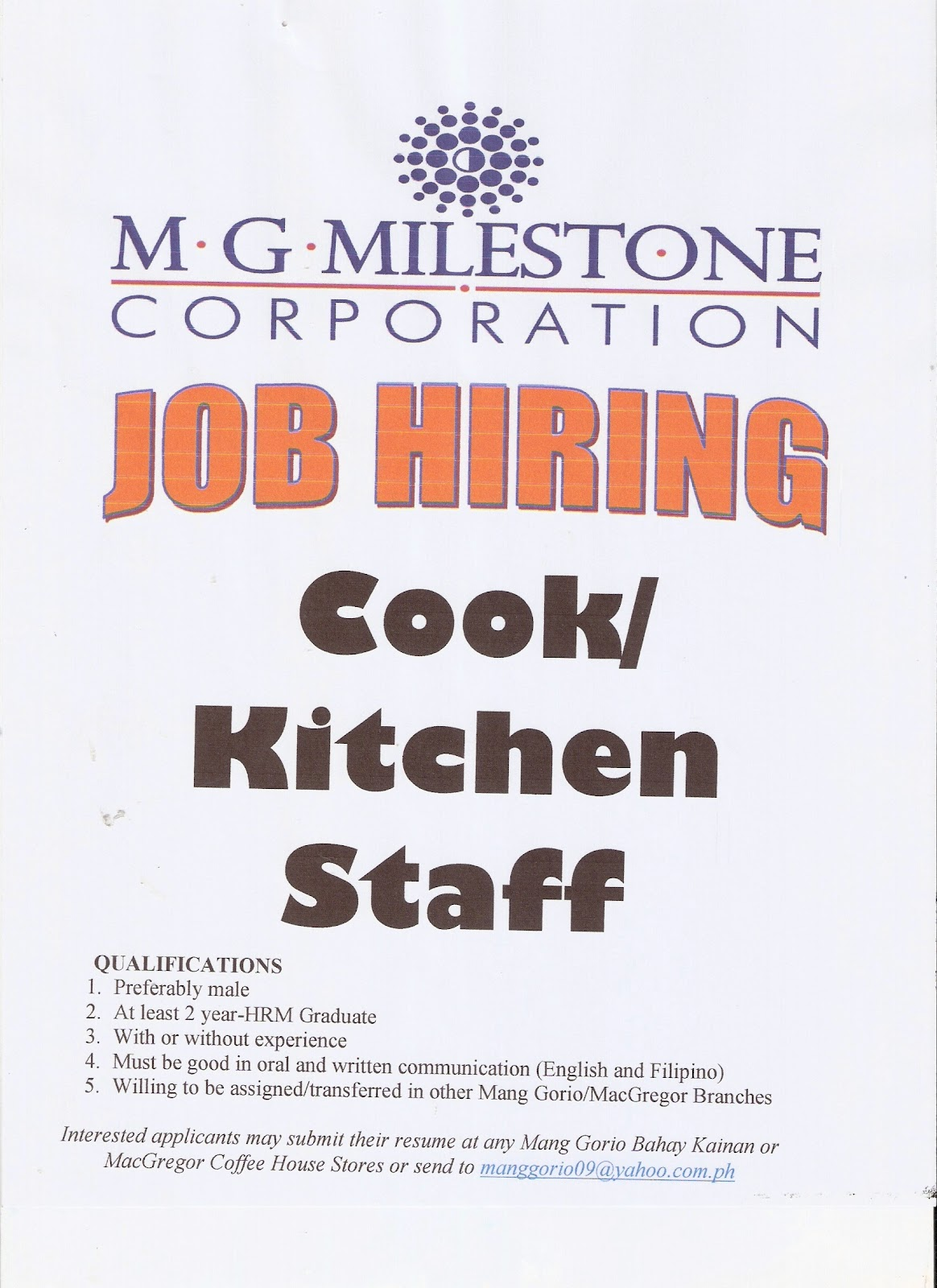 Kitchen Jobs Hiring