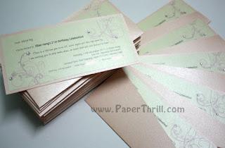 Cherry blossom handmade birthday invitation card