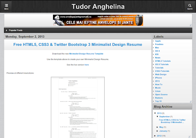 Html5 Blogger Templates Free Blogger Template - HTML5 CSS3 jQuery Mobile