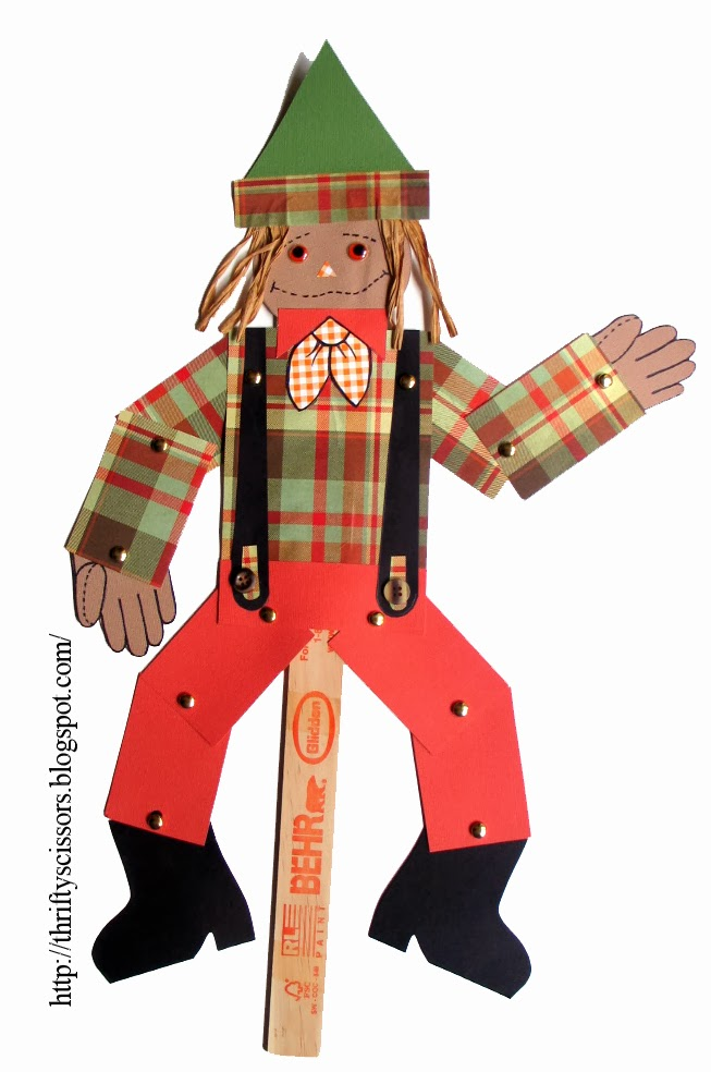 Craft a Paper Scarecrow Jumping-Jack | Thrifty Scissors