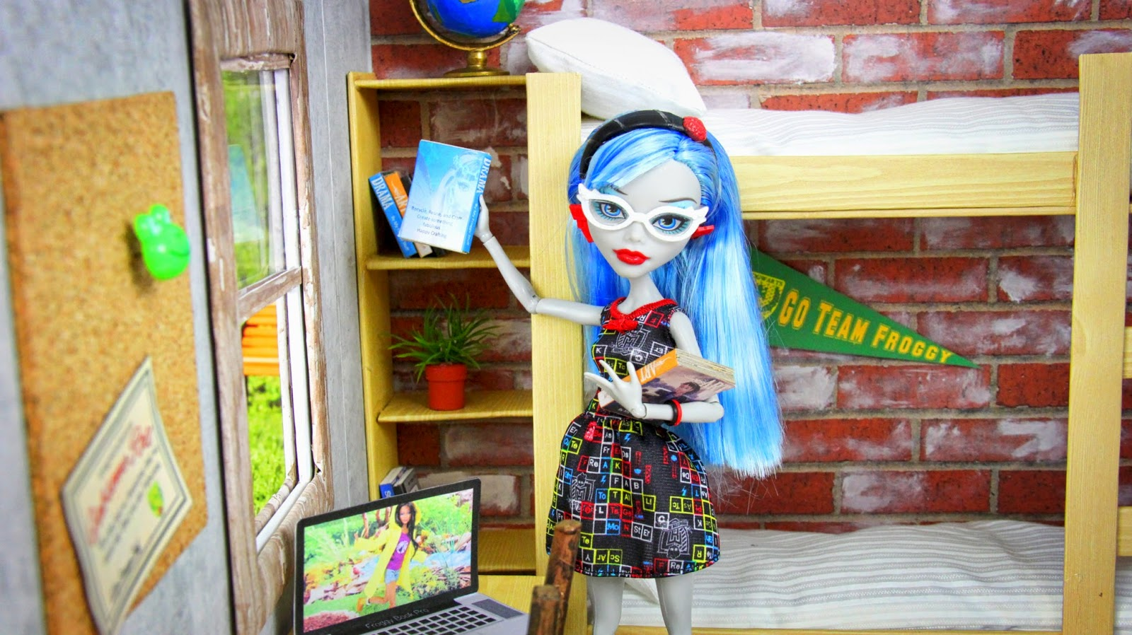 Back to School  Doll Dorm Rooms. My Froggy Stuff  Back to School  Doll Dorm Rooms