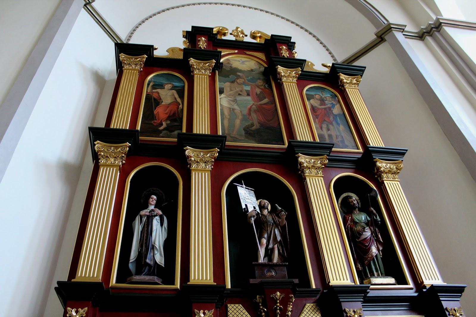 Retablo lateral san juan bautista iglesia de carache for Arquitectura sacro