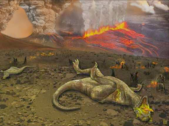 Dinosaurs killed extinct by asteroid