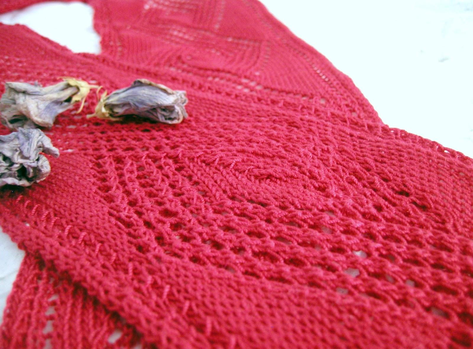 Diamond Pattern Knitting : lostsentiments: Openwork Diamond Scarf - Free Knitting Pattern