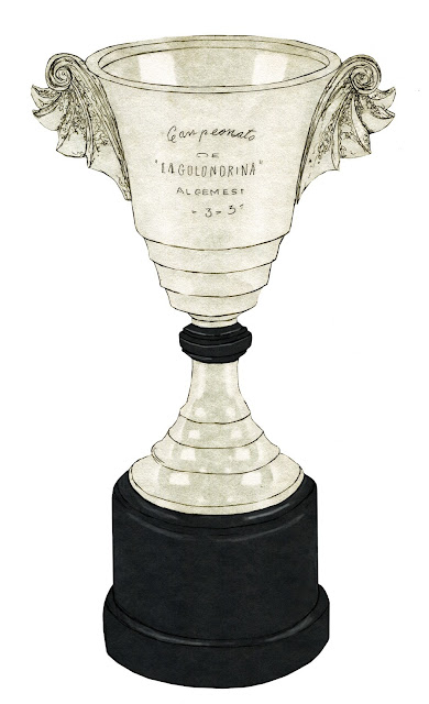 Trofeo, dibujo