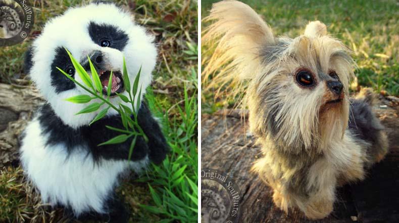 Peluches de crías de animales increíblemente realistas de Lee Cruz