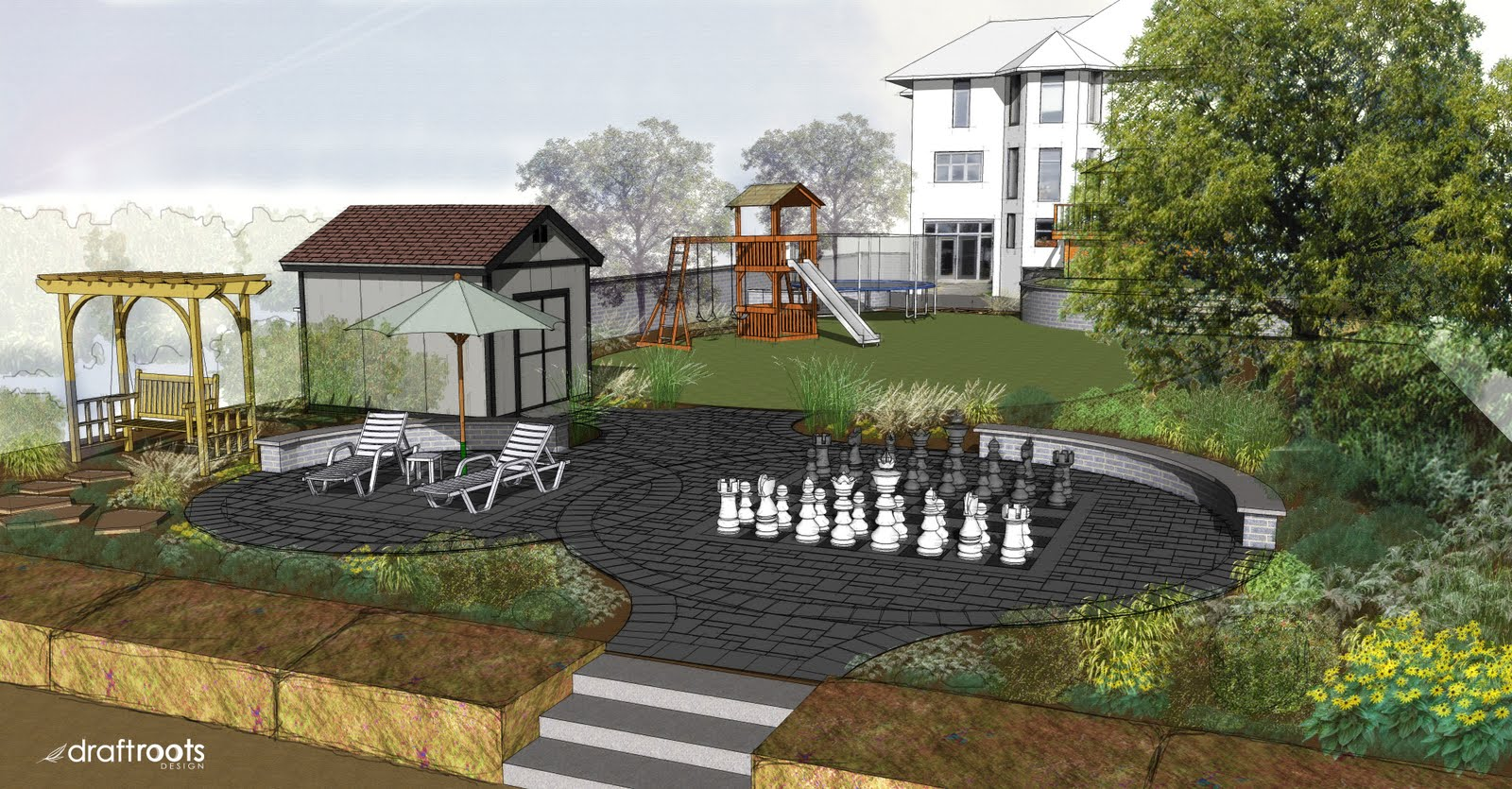 THE SEED A Landscape Design Blog Multi Media Rendering Sketchup