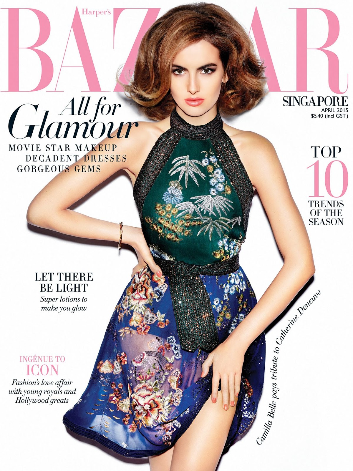 Actress @ Camilla Belle - Harper's Bazaar Singapore, April 2015