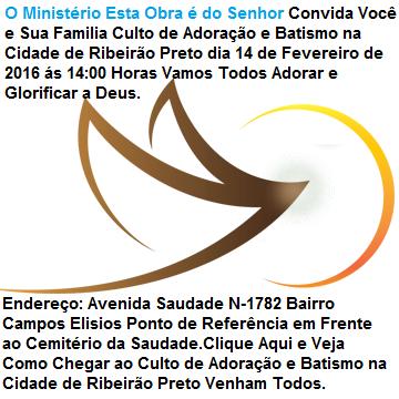 Culto de Adoração e Batismo Cidade Ribeirão Preto