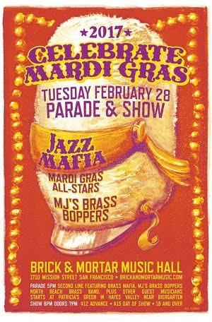 2/28 : Celebrate Mardi Gras: Jazz Mafia Mardi Gras All-Stars, MJ's Brass Boppers