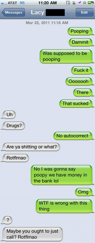 funny cell phone messages.
