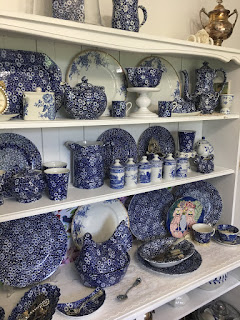 Blue White Transferware Dishes