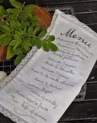 Artefina Serviette Menü