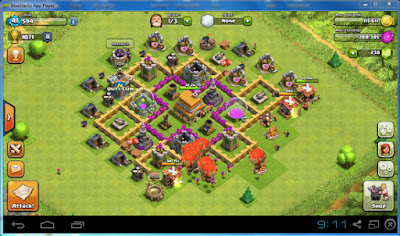 Cara bermain game clash of clans di pc