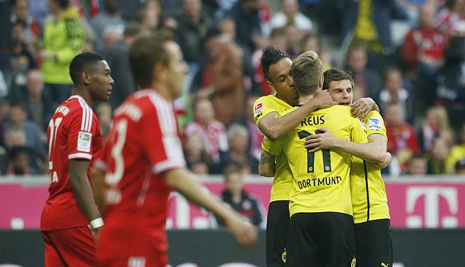 El Borussia barrió a domicilio a un Bayern de capa caída.