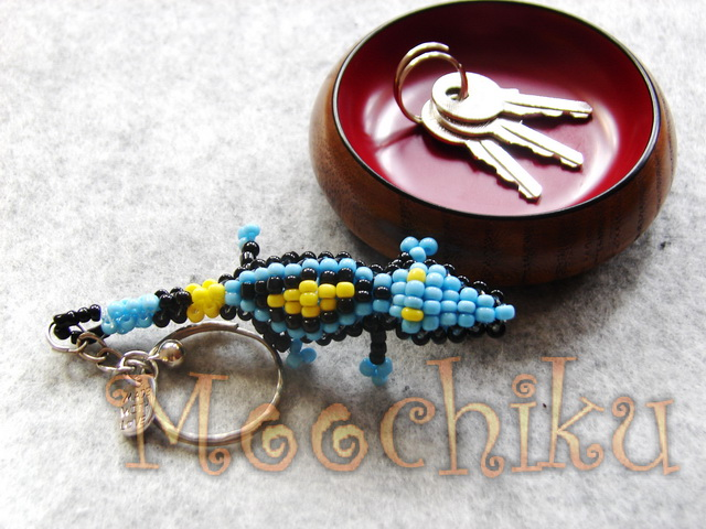 MOOCHIKU: MOOCHIKU WINTER BEADED LIZARD KEYCHAIN v.3