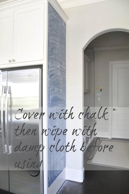 Honey We Re Home Diy Kitchen Chalkboard Wall