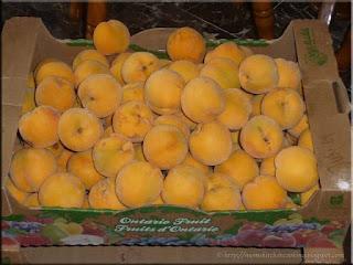 a bushel of peaches