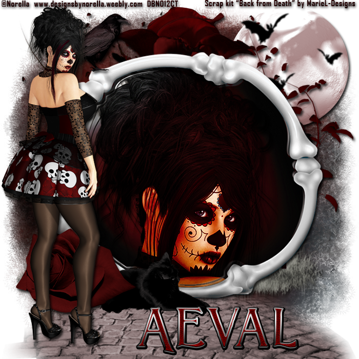 aeval 39 s art ct tags featuring skelita and matching kit